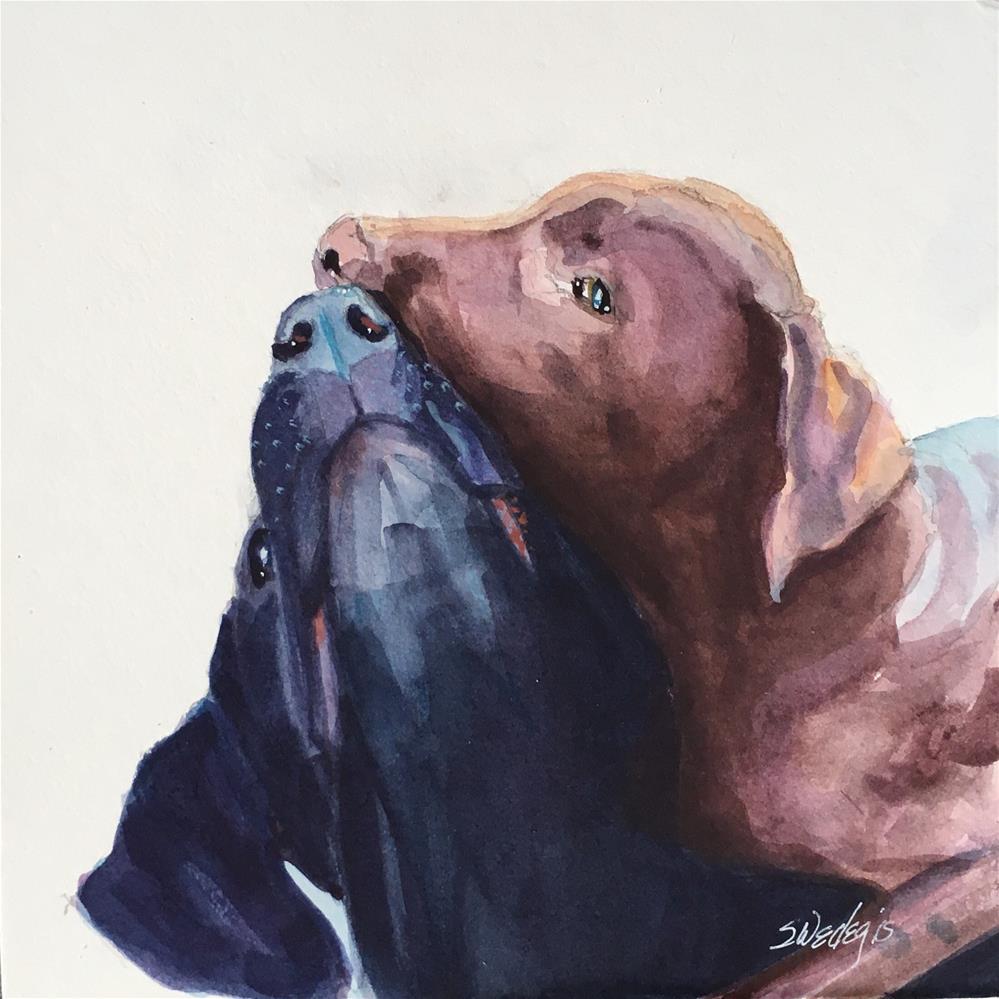"""Kiss Nip"" original fine art by Sheila Wedegis"