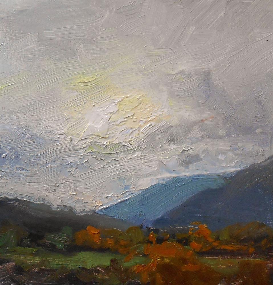"""Fall Morning in Santa Fe"" original fine art by Kelli Folsom"