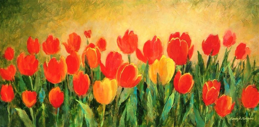 """Morning Tulips"" original fine art by Nancy F. Morgan"
