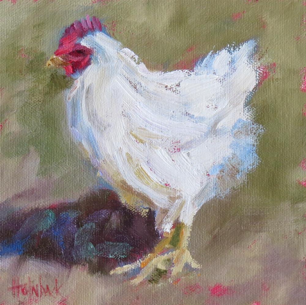 """""""Henny Penny"""" original fine art by Pam Holnback"""