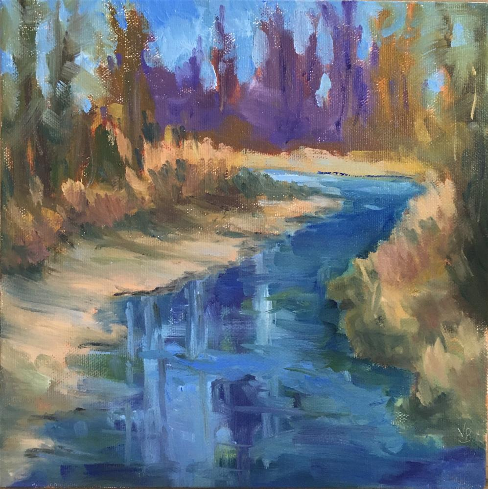 """Creek at Clearwater Park"" original fine art by Victoria  Biedron"