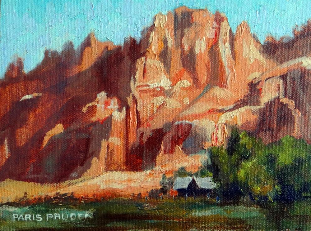 """Red Rocks of Wyoming"" original fine art by Nancy Paris Pruden"