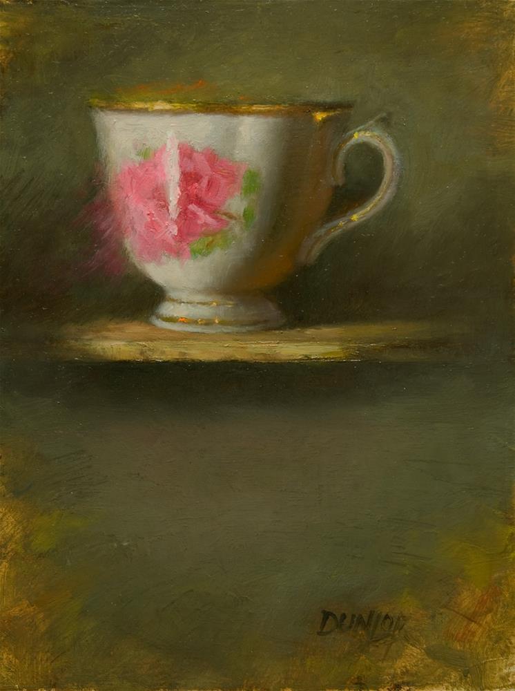 """Teacup #3"" original fine art by Bobbi Dunlop"