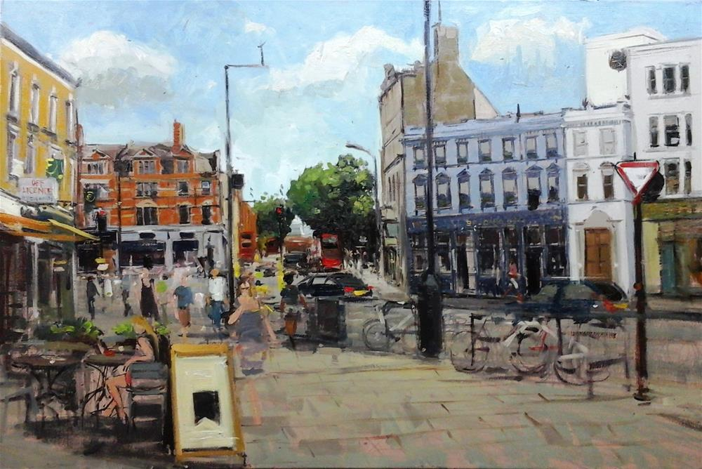 """Summerlight, Fulham Broadway"" original fine art by Adebanji Alade"