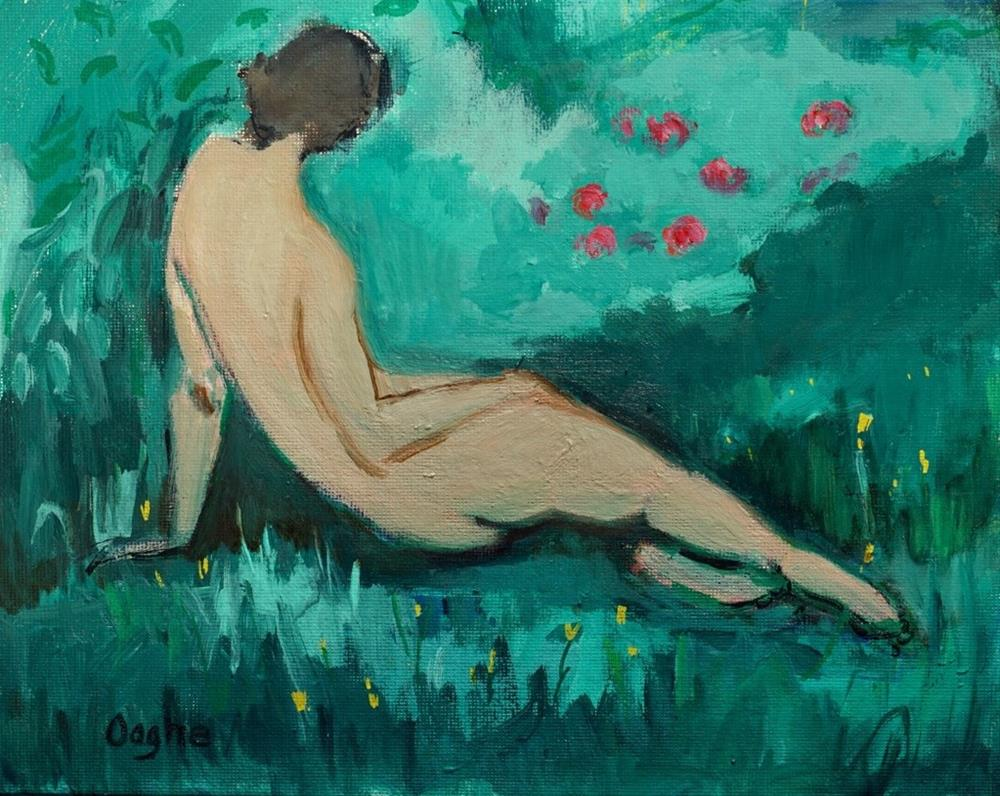 """Garden Nude"" original fine art by Angela Ooghe"