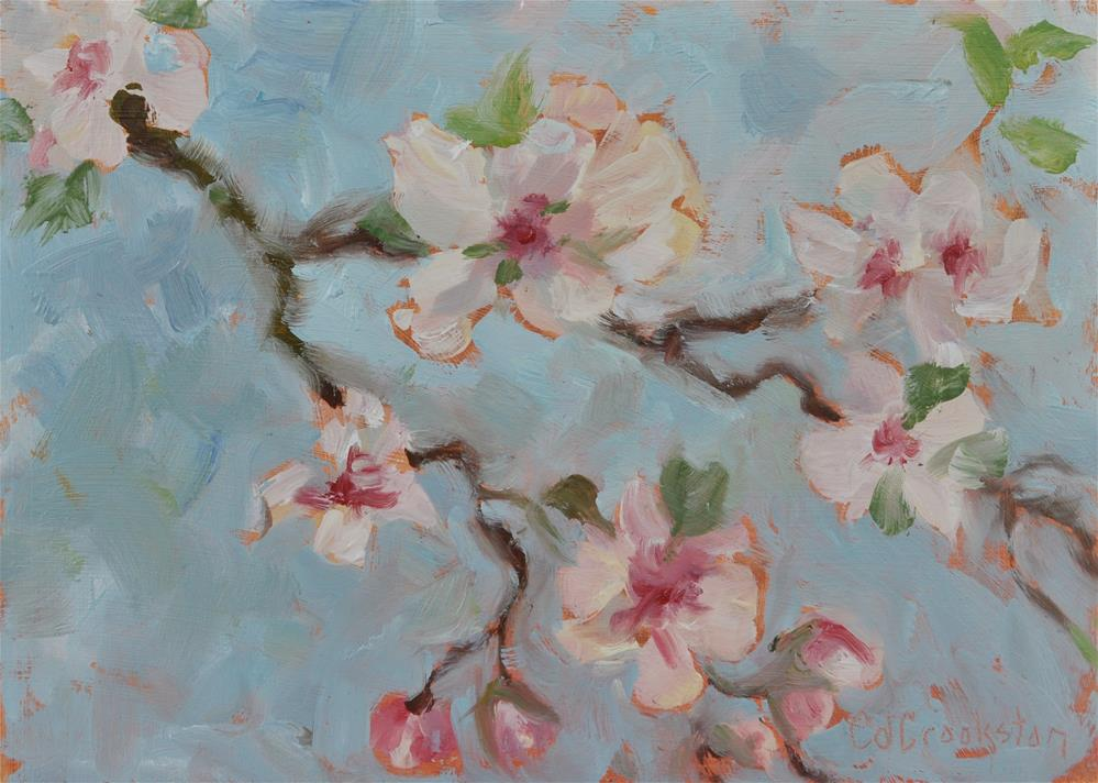 """These Apple Blossoms"" original fine art by Catherine Crookston"