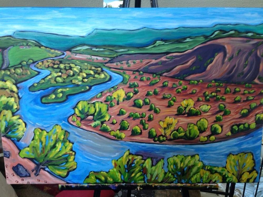 """""""Chama River"""" original fine art by Robyn Wellman"""