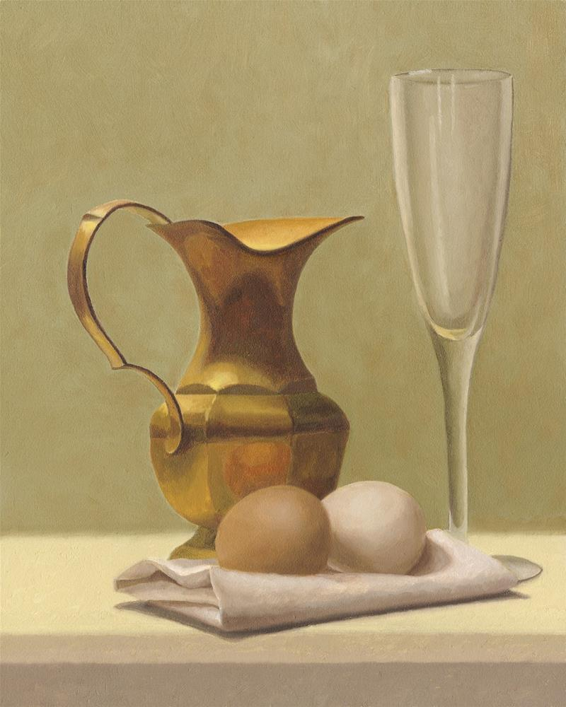 """The Brass Pitcher"" original fine art by Susan Fern"