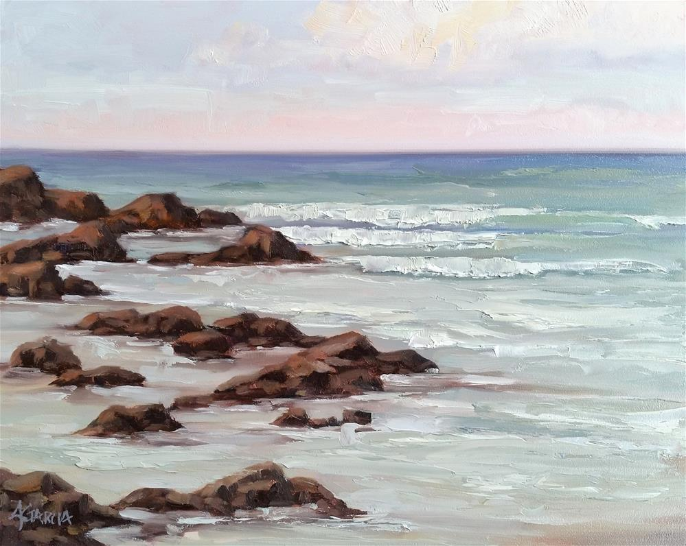 """Lava Strand"" original fine art by Jeannie Garcia"