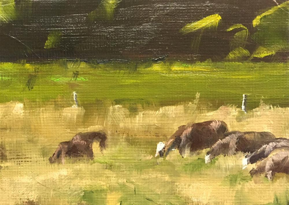 """Pasture Land"" original fine art by Gary Bruton"