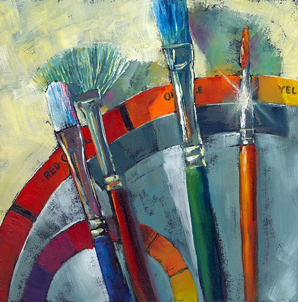 """Wheel of Fortune"" original fine art by Brenda Ferguson"