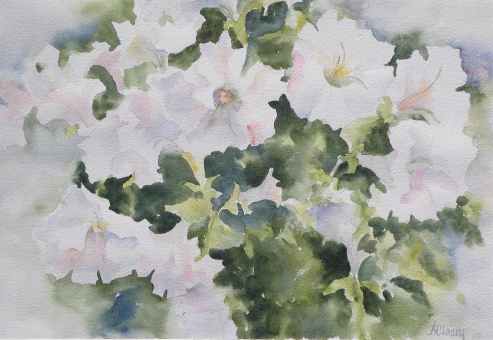 """Petunia Spring"" original fine art by Alice O'Leary"