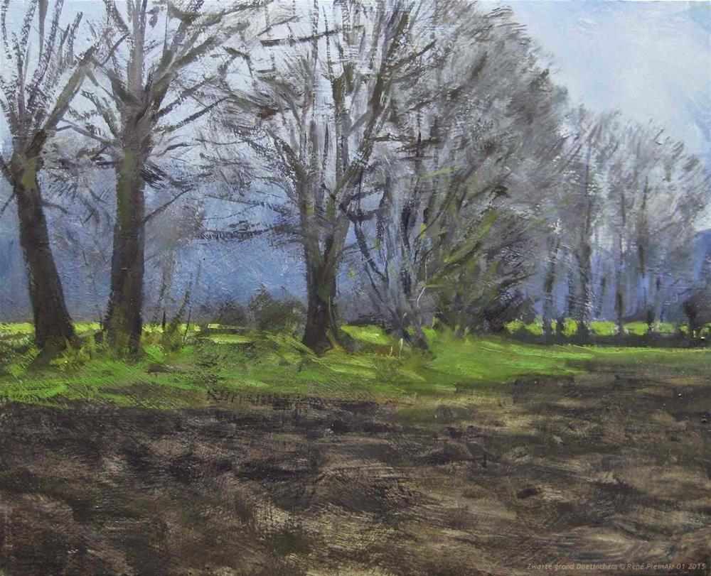 """Black ground Doetinchem, The Netherlands"" original fine art by René PleinAir"