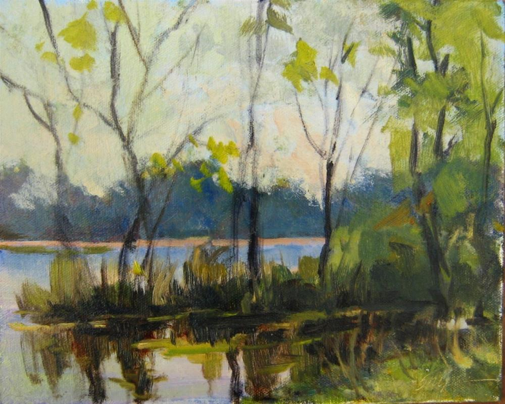 """Trees and Reflections"" original fine art by Connie Snipes"