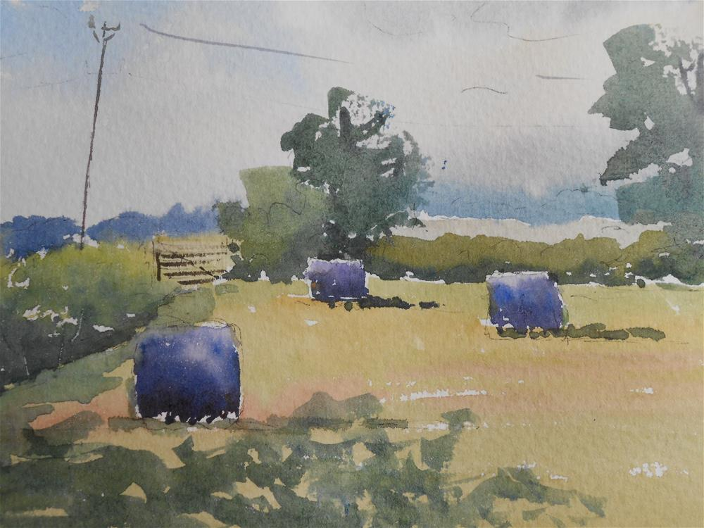 """Silage bales"" original fine art by Graham Findlay"