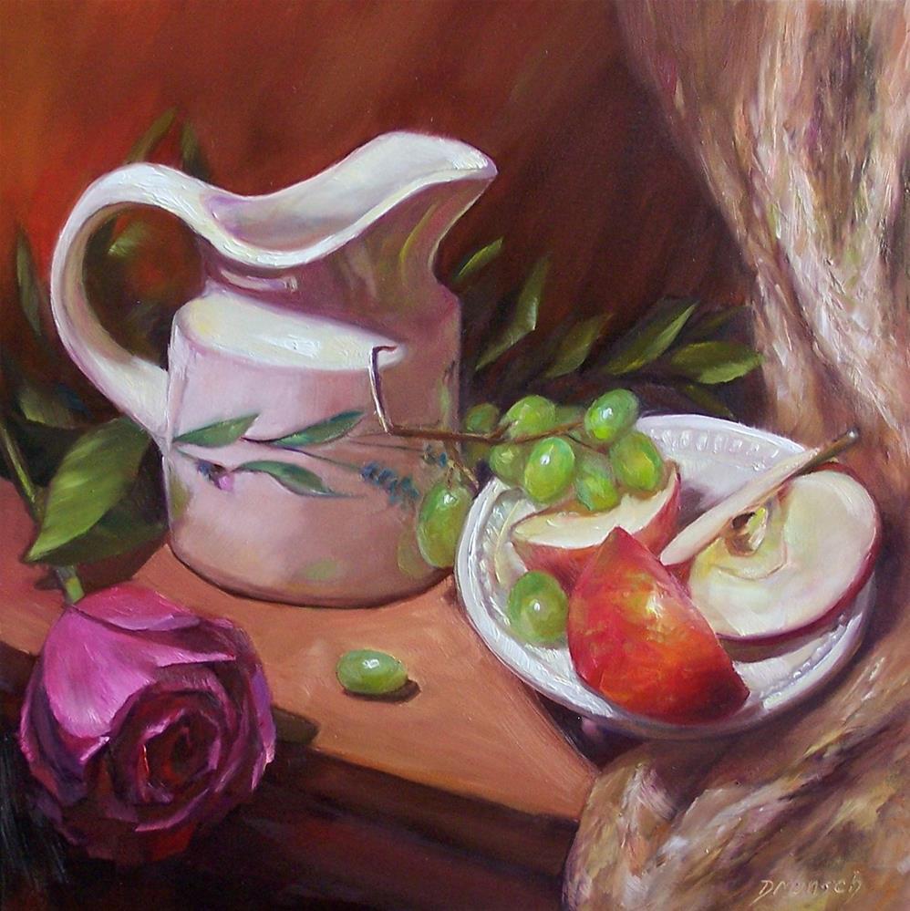 """Creamer with Fruit"" original fine art by Donna Munsch"