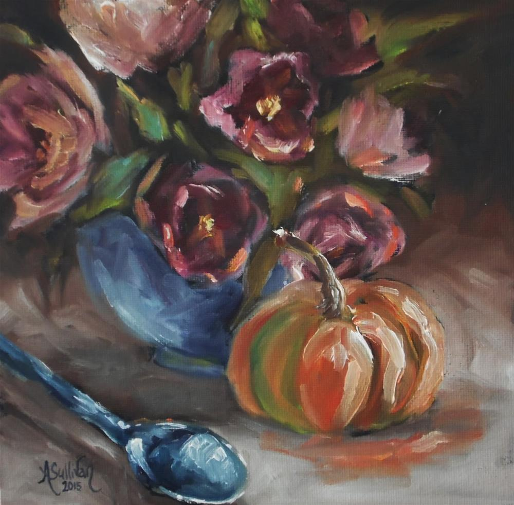 """Seasons Change still life painting by Alabama Artist Angela Sullivan"" original fine art by Angela Sullivan"