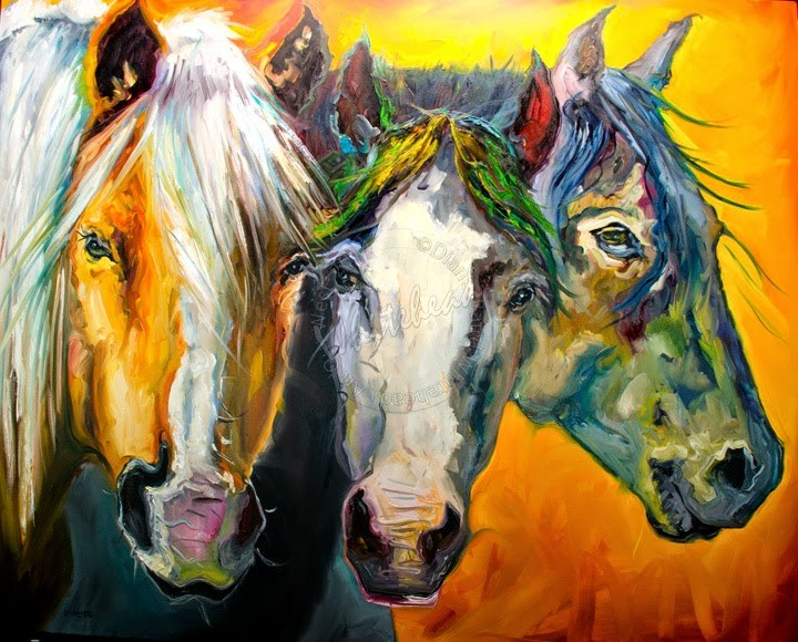"""ARTOUTWEST EQUINE HORSE ART OIL PAINTING BY Diane Whitehead"" original fine art by Diane Whitehead"