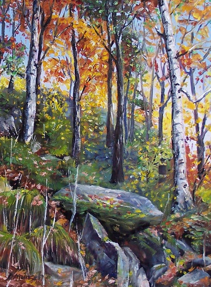 """Autumn Hike"" original fine art by Donna Munsch"
