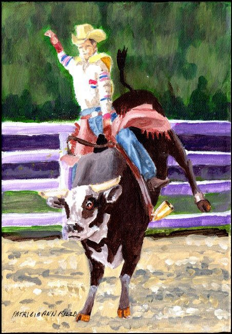 """Ride Em Cowboy!"" original fine art by Patricia Ann Rizzo"