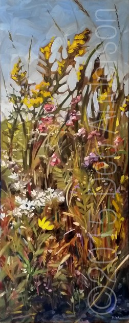 """Oil Painting: Goldenrod"" original fine art by Deb Anderson"