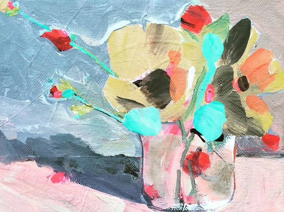 """0029YellowFlowers"" original fine art by Jenny Doh"