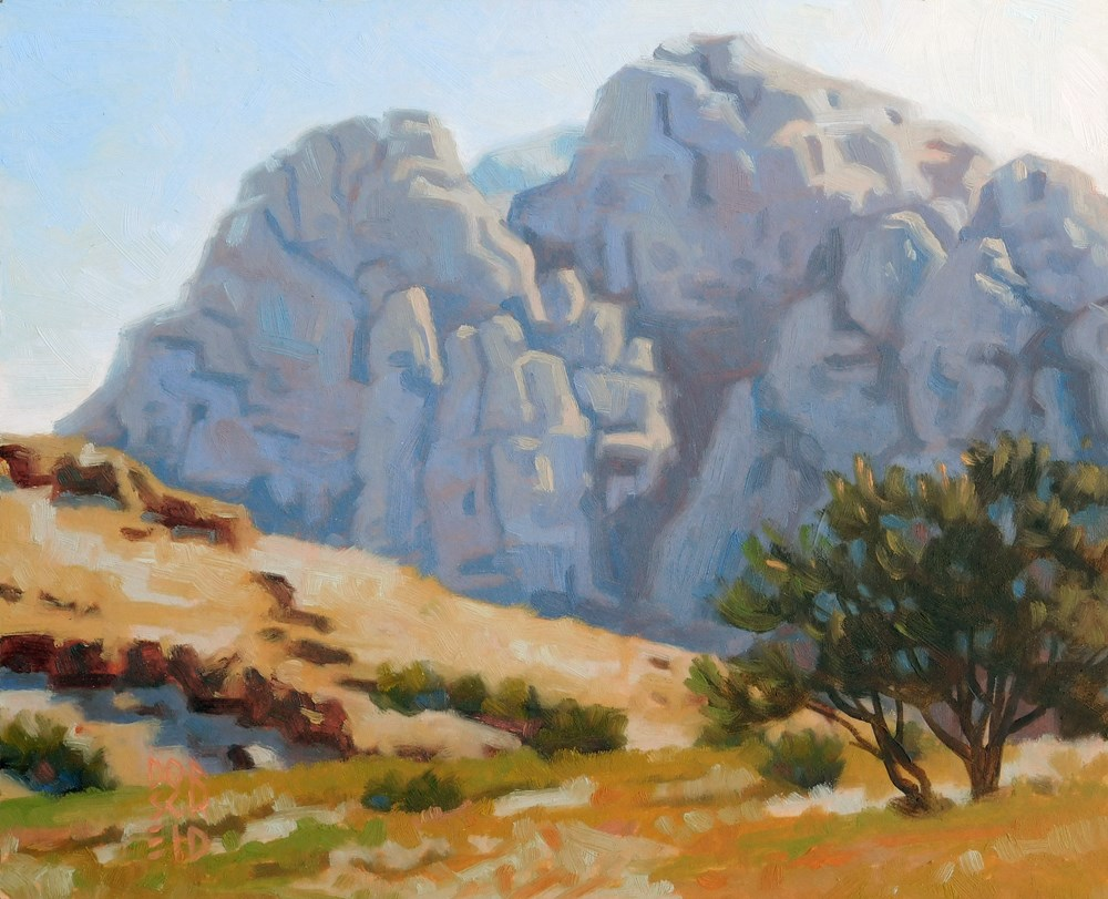 """Dripping Springs Trailhead."" original fine art by Les Dorscheid"