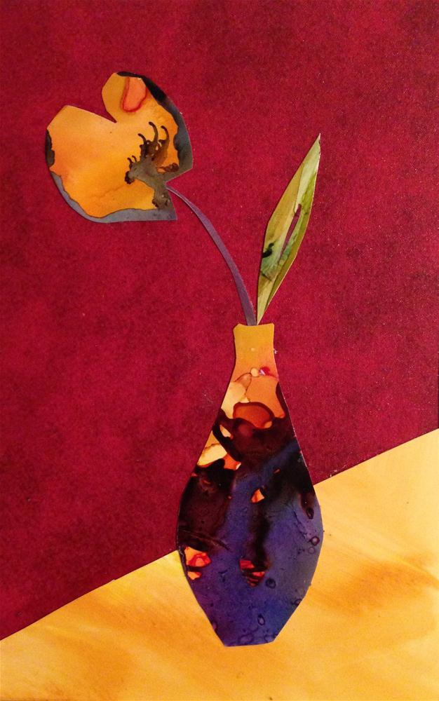 """Yellow Tulip"" original fine art by Kelly Alge"