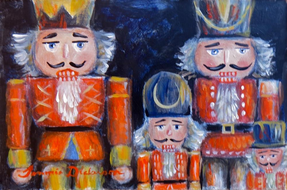 """Nutcrackers Four"" original fine art by Tammie Dickerson"