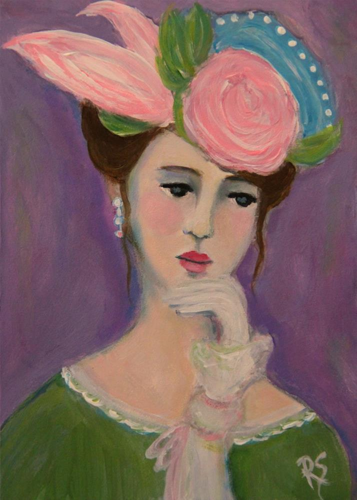 """""""Claudine"""" original fine art by Roberta Schmidt"""