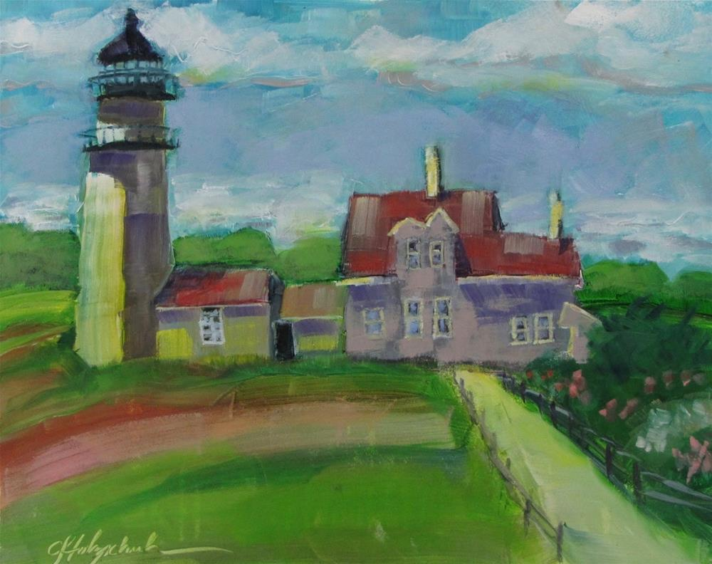 """Cape Cod Lighthouse"" original fine art by Christine Holzschuh"