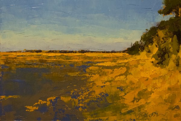 """Marsh, Fall Gold"" original fine art by Mary Gilkerson"