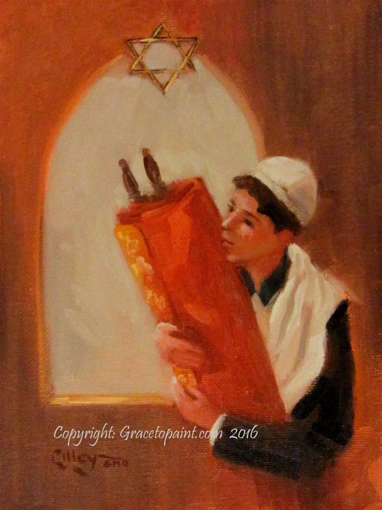 """Torah"" original fine art by Maresa Lilley"