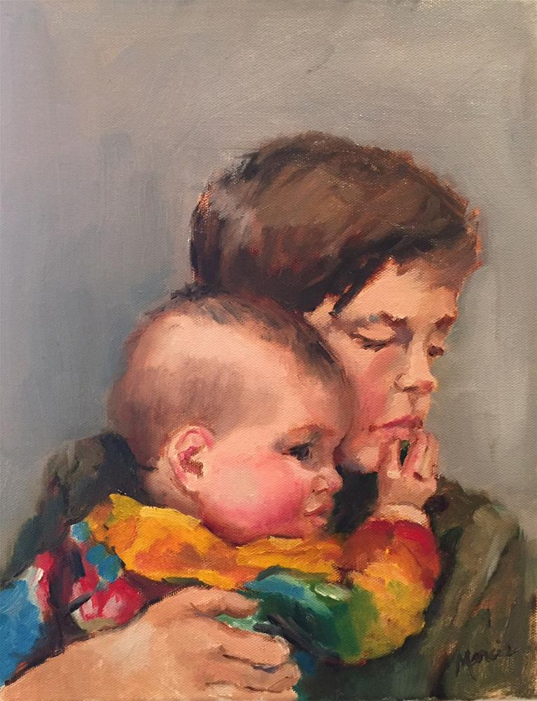 """""""Carol's Grands"""" original fine art by Marcia Hodges"""