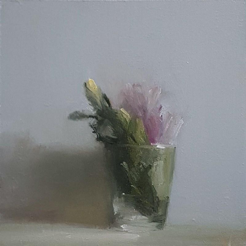 """Glass of Leaves"" original fine art by Neil Carroll"