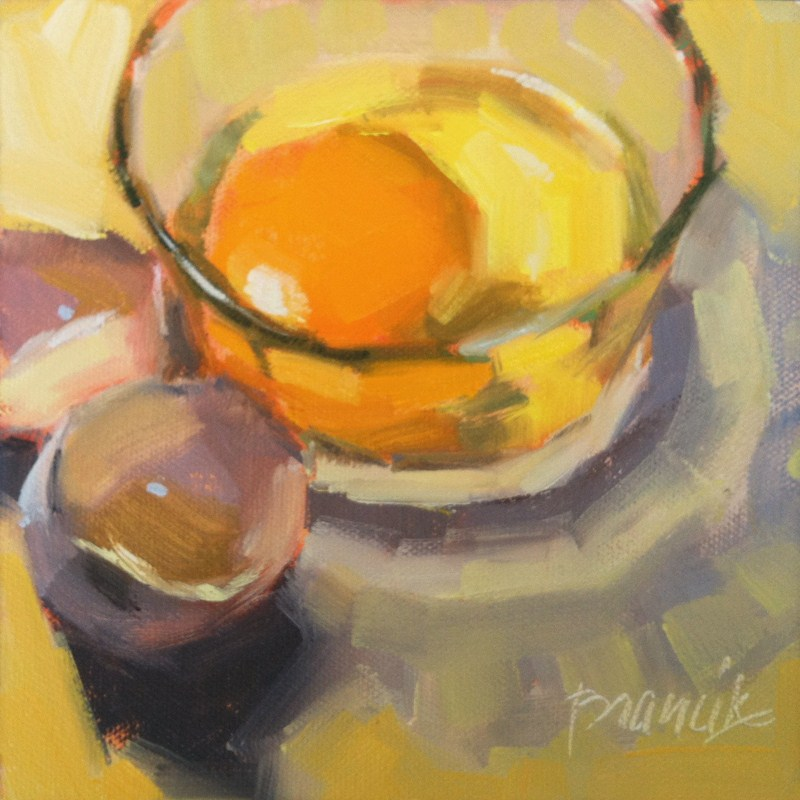 """Sunny Egg"" original fine art by Candace Brancik"