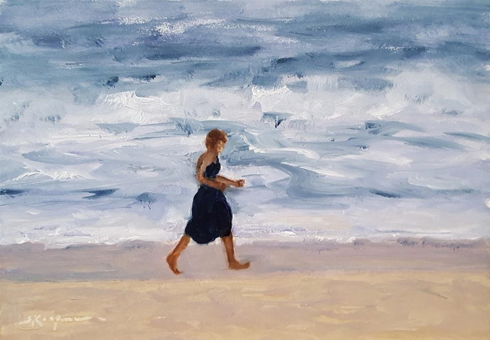 """Ocean Power Walking"" original fine art by Shelley Koopmann"