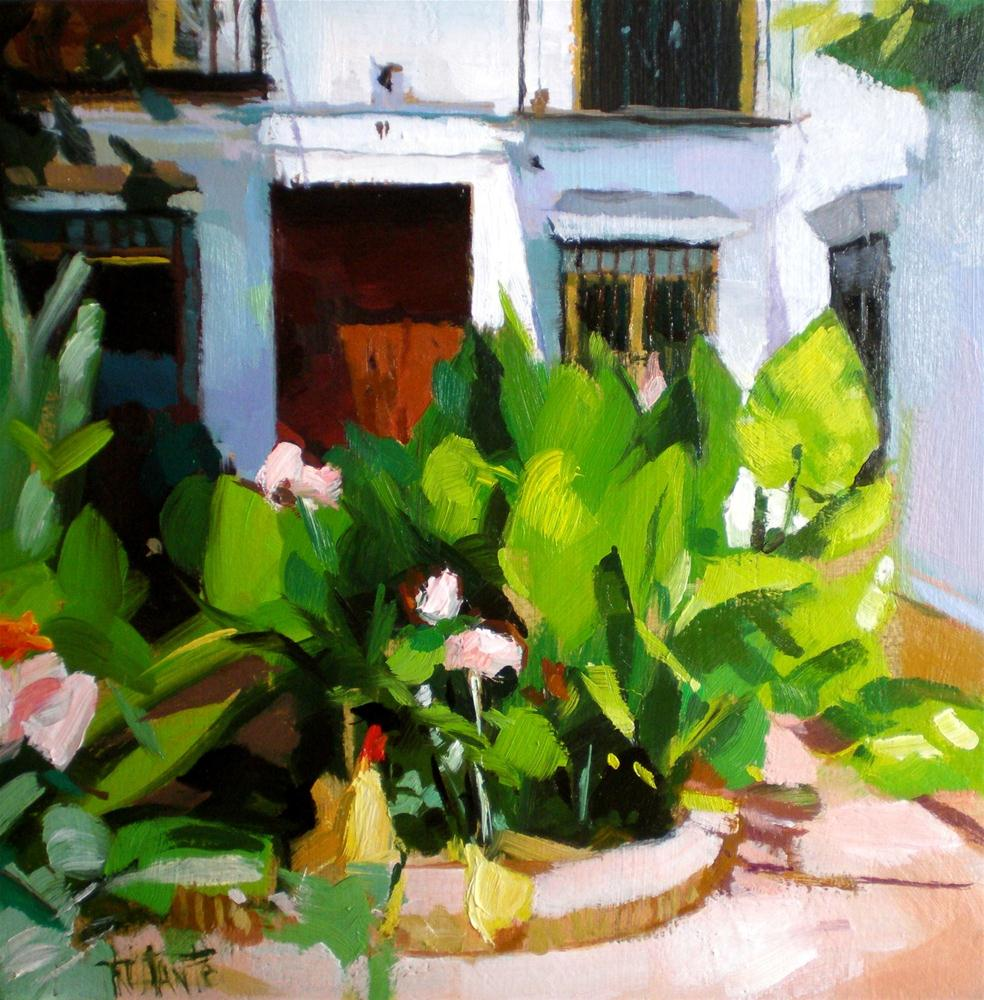 """Yard plants"" original fine art by Víctor Tristante"