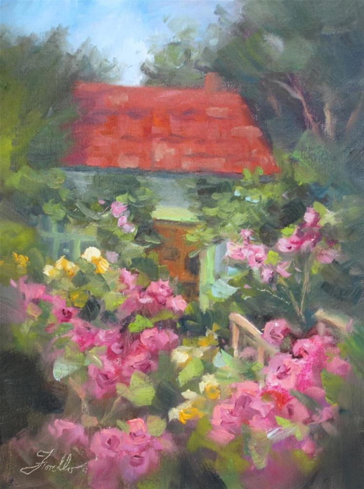 """Painting in France, Monet's Garden and First Prize"" original fine art by Pat Fiorello"