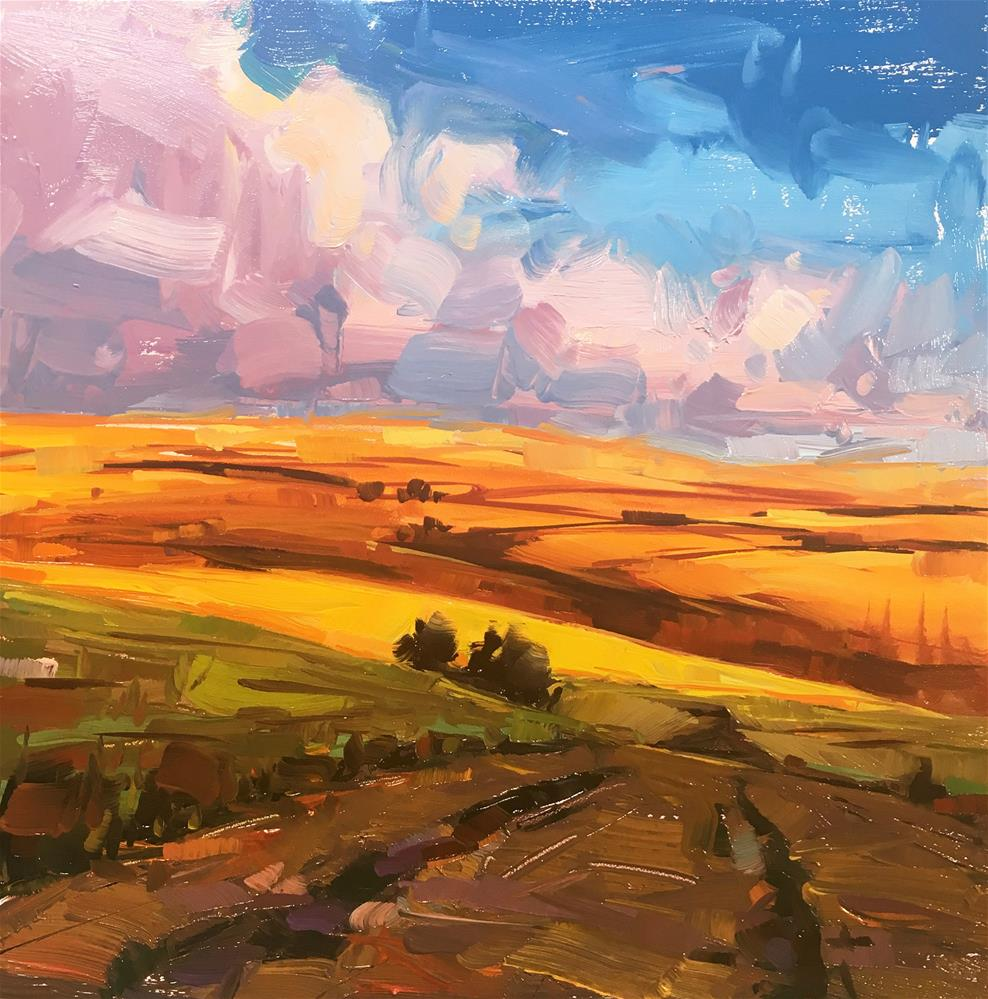 """Sunset Splendor"" original fine art by Cathleen Rehfeld"