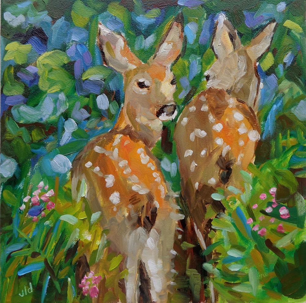 """""""FLOWER SPOTTING"""" original fine art by Jean Delaney"""