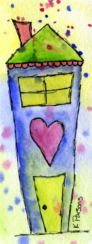 """Love Cottage"" original fine art by Kali Parsons"