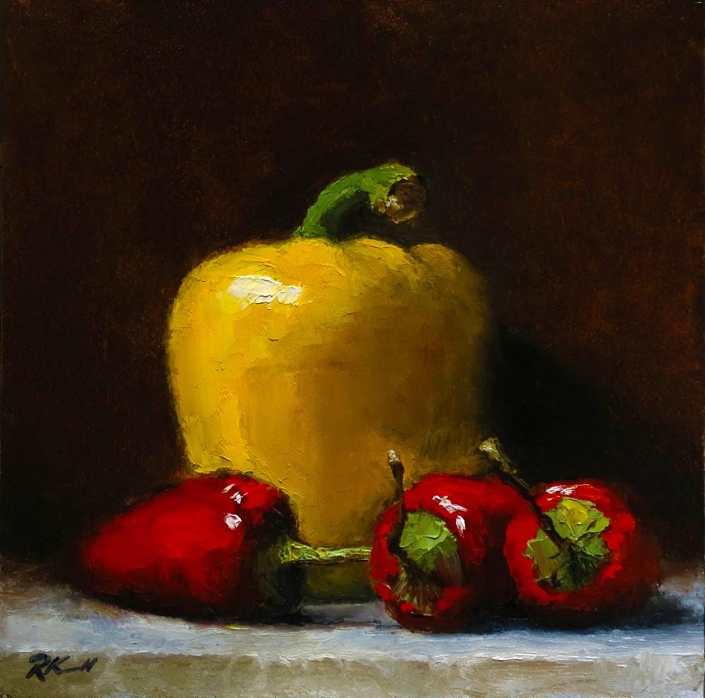 """Peppers"" original fine art by Bob Kimball"