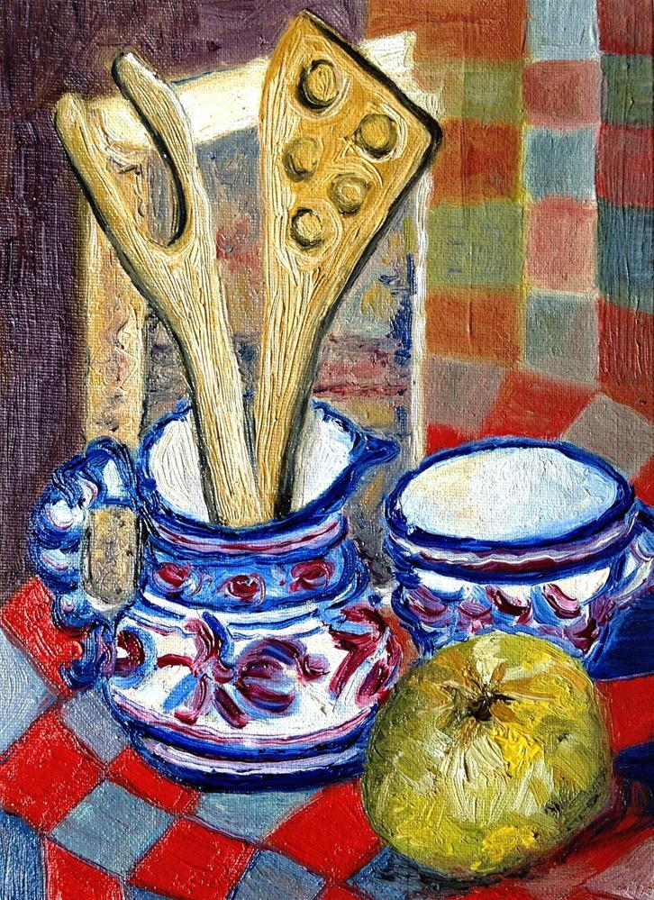 """Kitchen objects"" original fine art by Monica Pinotti"