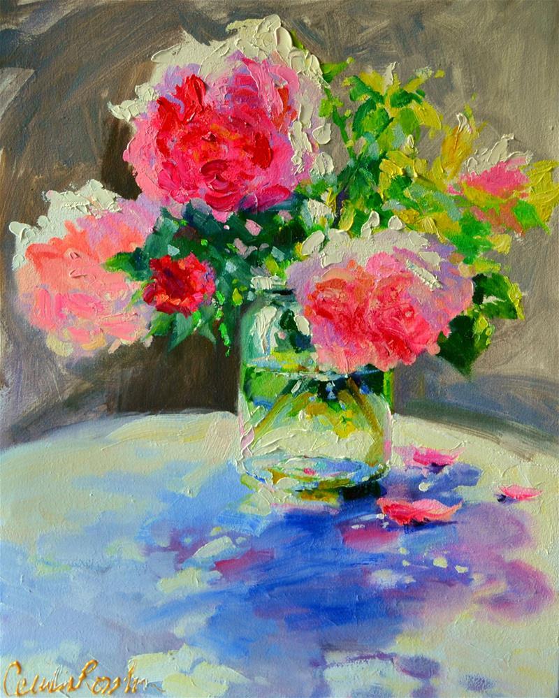 """""""'N PAAR PEONIES"""" original fine art by Cecilia Rosslee"""