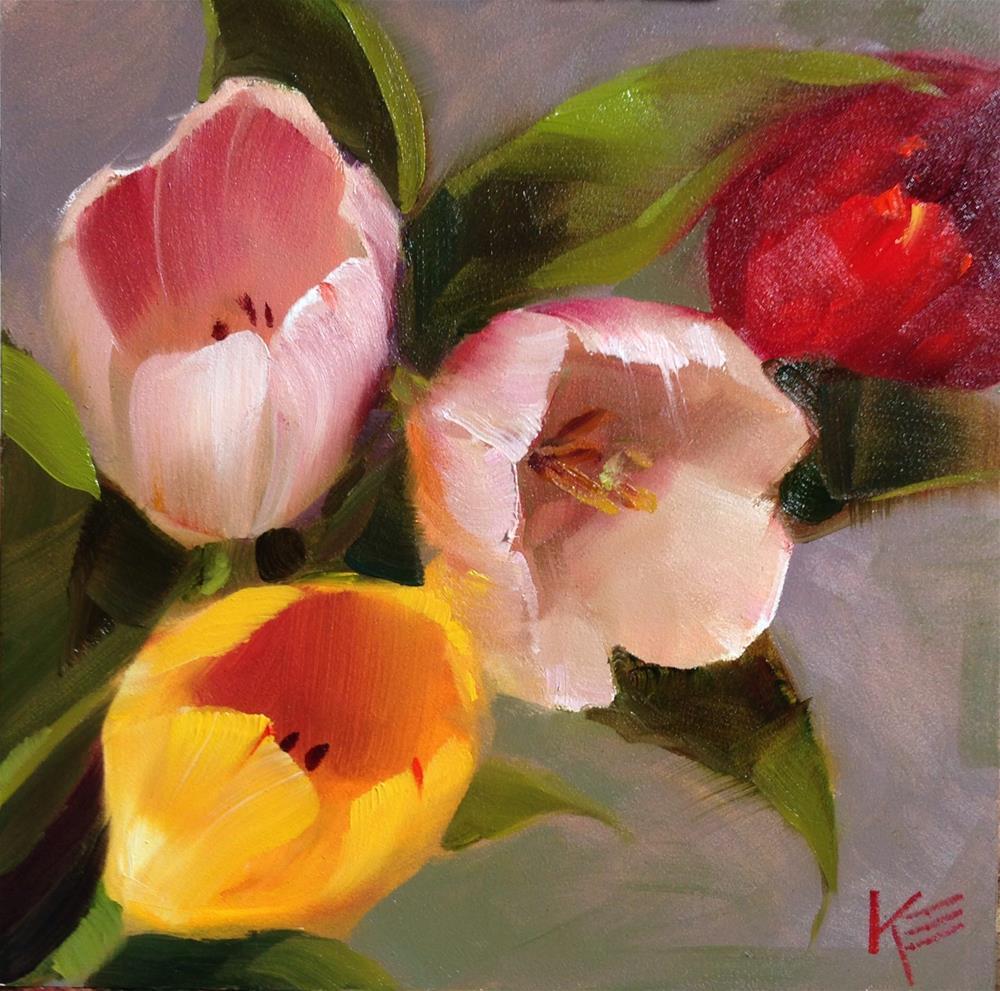 """Tulips"" original fine art by Krista Eaton"