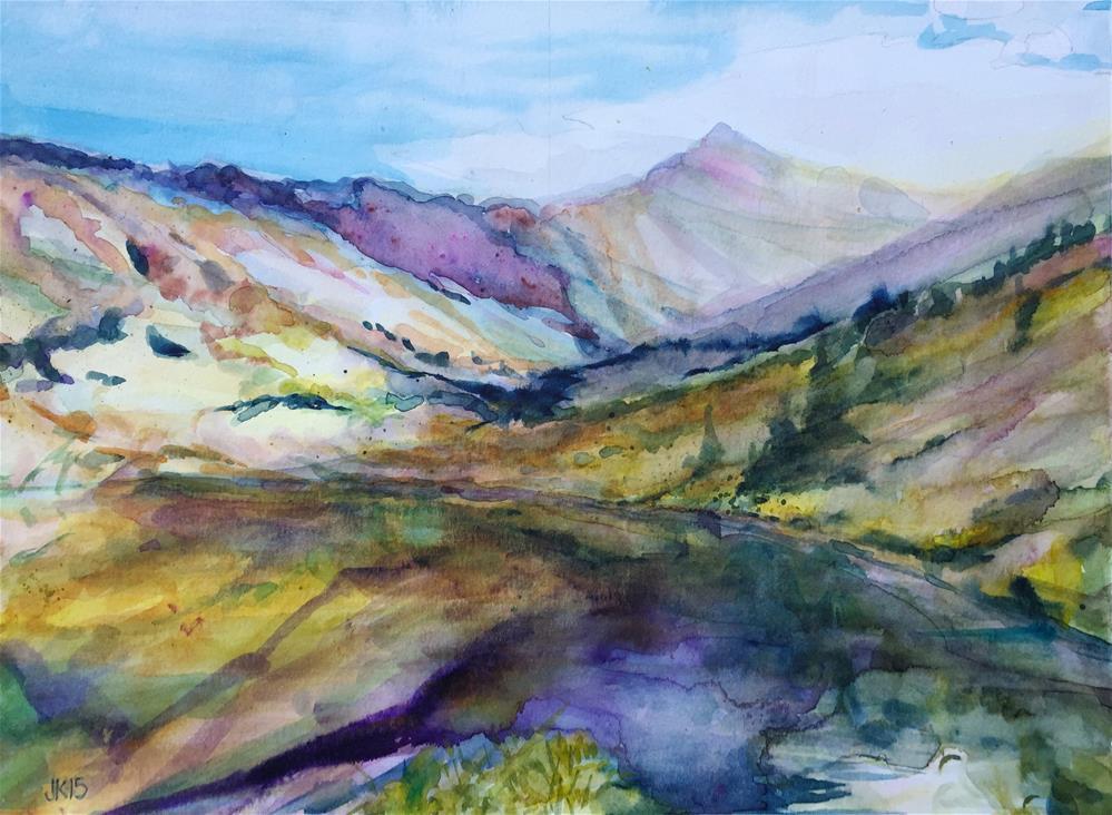 """Comanche Lake, Colorado"" original fine art by jean krueger"