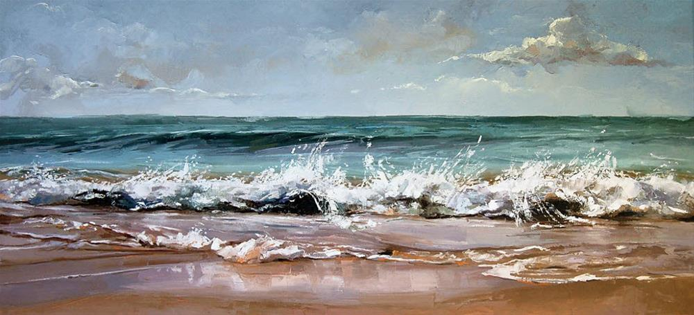 """Seascape"" original fine art by Victor Bauer"