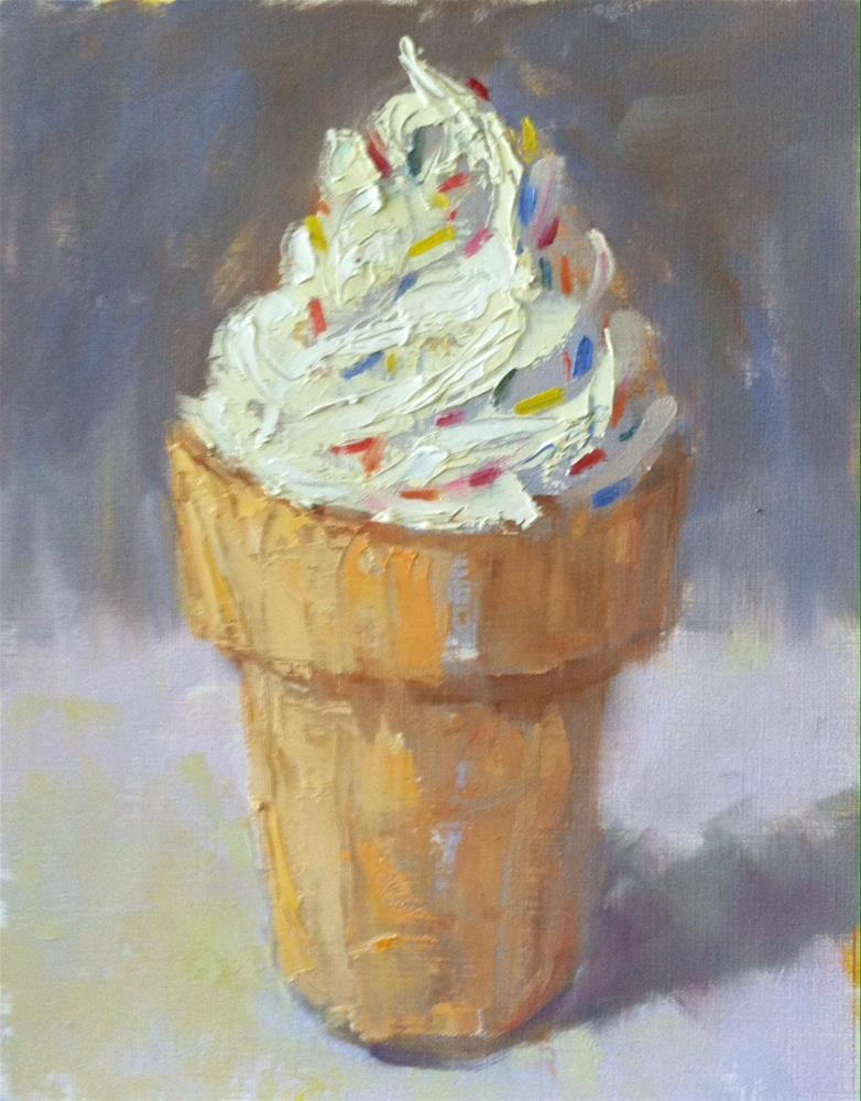 """Cone of Cream"" original fine art by Katharine March"
