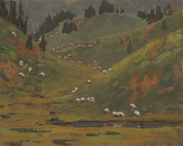 """Grazing the High Country"" original fine art by Susan Matteson"